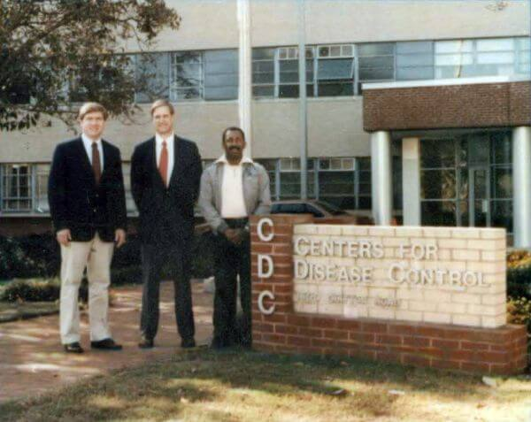 A younger Darwin Parker is shown here in his early Days at CDC, circa 1988.