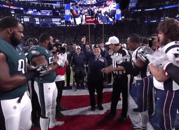 "Hershel ""Woody"" Wililams Conducts the Coin Toss at the Super Bowl"